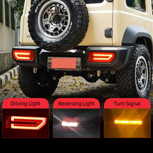 CSGJMY 2PCS LED Reflector TailสำหรับSuzuki JIMNY 2019 2020ไฟท้ายด้านหลังโคมไฟที่จอดรถเบรคกระแสเงินสดเปิดสัญญาณ
