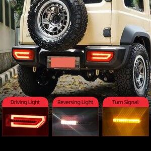 Image 1 - CSGJMY 2PCS LED Reflector TailสำหรับSuzuki JIMNY 2019 2020ไฟท้ายด้านหลังโคมไฟที่จอดรถเบรคกระแสเงินสดเปิดสัญญาณ