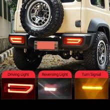 CSGJMY 2PCS LED reflector Tail Lamp for Suzuki JIMNY 2019 2020 Taillight Rear Lamp Parking Brake light Flow Turn Signal
