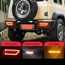 Csgjmy 2Pcs Led Reflector Achterlicht Voor Suzuki Jimny 2019 2020 Achterlicht Achterlicht Parking Brake Light Flow Turn signaal
