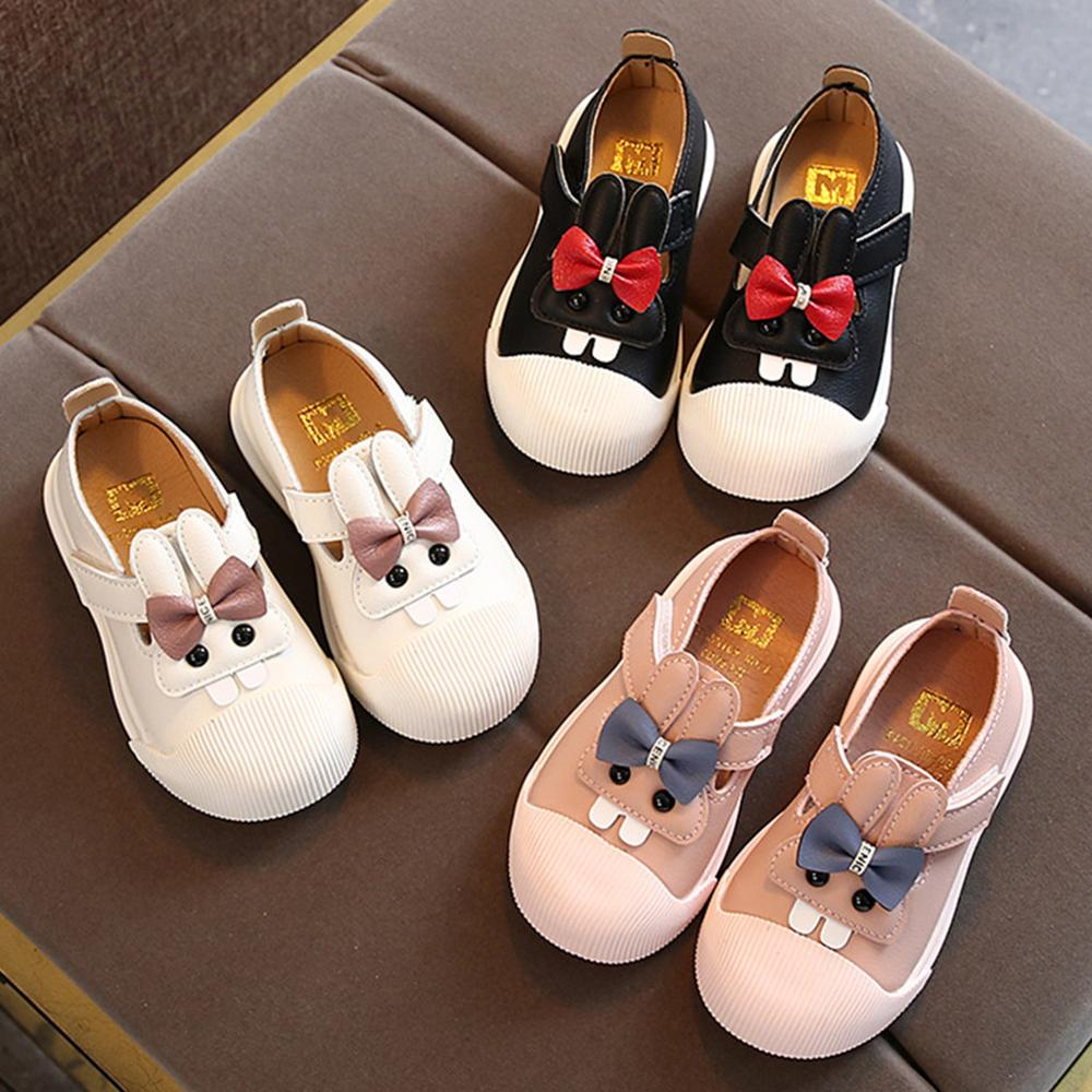 Toddler Infant Kids Baby Girls Cute Cartoon Rabbit Princess Leather Shoes Fashion Casual Single Shoes With High Quality