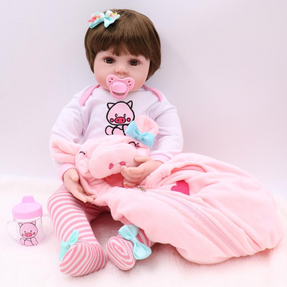 NPK bebes reborn poupée 48cm réaliste Reborn bébé Non toxique Silicone poupée enfants accompagnent jouet noël surprise cadeaux lol poupée