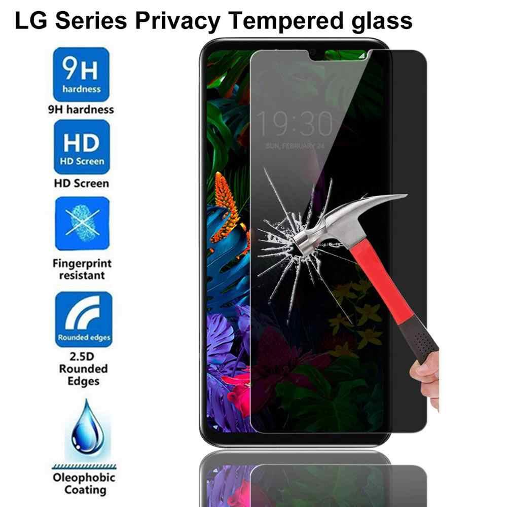 9H Privacy Temperato di Vetro Per lg G3 G4 G5 G6 Q7 Q6 G7 G8 ThinQ V10 V20 V30 V40 anti-Spy Anti Glare Pellicola Della Protezione Dello Schermo di Vetro