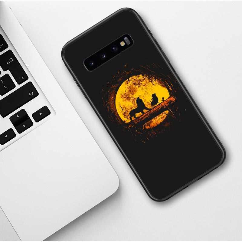 Leão rei simba nala hakuna silicone tpu caso de telefone para samsung galaxy s7 borda s8 s9 plus s10 plus lite nota 9 preto capa