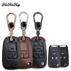 Image 1 - Leather Car Key Case Cover For Chevrolet Cruze Aveo TRAX Opel Astra Corsa Meriva Zafira Antara J Mokka Insignia Car styling