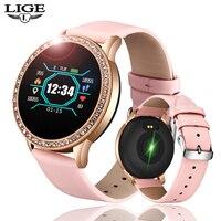 LIGE  2020 New Smart Watch Women Men Heart Rate Blood Pressure Sport Multi-function Watch fitness tracker Fashion smartwatch+Box 2