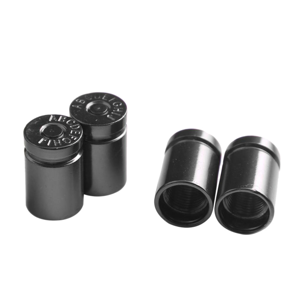 Pack Of 4 Car Truck Motorcycle Bike Wheel Tire Stem Valve Caps Dust Covers