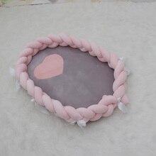Детская корзина для постельного белья, переносная кроватка для новорожденных, Детские бамперы, защитная подушка, хлопковое постельное белье YYJ016