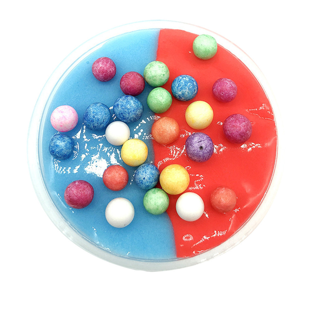 Two Colors Charms Polymer Clay Antistress Fun Stress Reliever Decompression Toy Color Mud Safe Non-toxic Slime #A