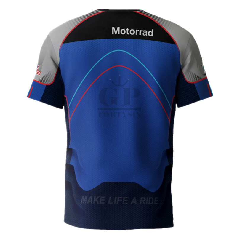 Spring Autumn M Power Motorcycle Long Sleeve T-Shirt moto gp Motorsport Men Tshirt for BMW