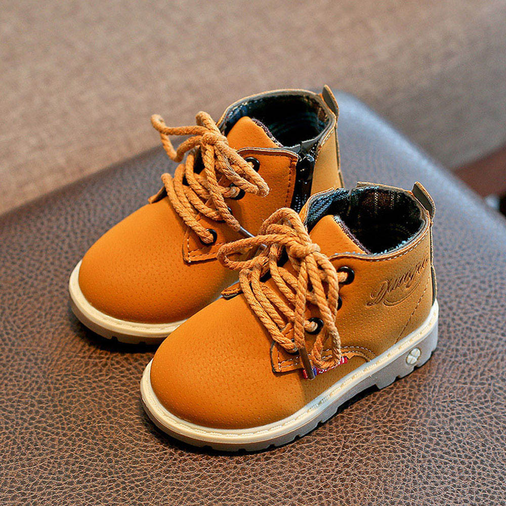 Toddler Girl Boots Children Fashion Boys Girls Motorcycle Boots Lace Up Kids Baby Casual Shoes Botas Mujer Invierno 2019
