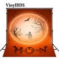 VinylBDS Halloween Hintergründe Rot Mond Sky Bat Baum Hintergrund Festival Grim Reaper Hintergrund Für Fotos-in Hintergrund aus Verbraucherelektronik bei