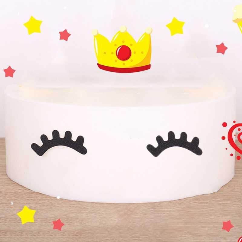 Cils décoration de gâteau de fête licorne   Cornes de licorne, décoration de gâteau pour anniversaire pour enfants, ensemble drapeau joyeux anniversaire