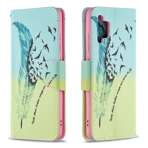 Image 2 - Painted Leather Flip Case For Samsung Galaxy A32 A52 A72 A12 A02 A02S 5G A42 A21 A21S A31 A51 A71 Soft Phone Cover Wallet Coque