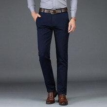 2020 Winter Pants Men Fashion Business Stretch Men Chinos Trousers Cas