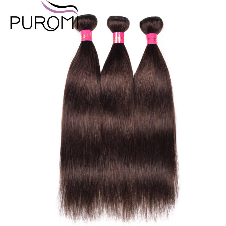 Puromi Haar Indian Steil Haar Weave Bundels 3/4 Bundels Deals Kleur 27 Honing Blonde 10-26inch 100% Remy human Hair Extension