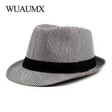 Шляпа wuaumx в полоску для мужчин и женщин Панама от солнца