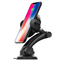 Car Mount Holder Smart Wireless Charger for iPhone X 8 Automatic Infrared Sensor Mobile Phone Wireless Charging Docking Stand