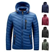 Men's 2021 Autumn Winter Vintage Classic Hooded Warm Parkas Jackets Coat Men Outwear Casual Detachable Hat Outfits Parka Men