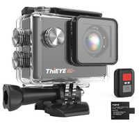 ThiEYE i60 + 4K WiFi télécommande caméra d'action avec degrés de Rotation libre montage Ultra HD caméra vélo et plongée Sport caméra