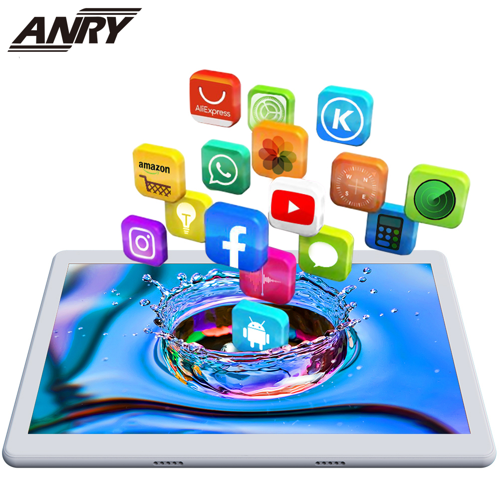 ANRY 10.1 Inch 4G Phone Call Touch Tablet Quad Core 1.5GHz Processor MTK 6737 2GB +32GB Wifi Bluetooth Android 8.1
