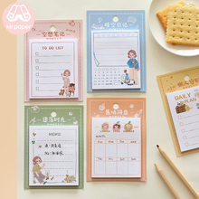 Mr Paper 30pcs/lot 6 Designs Girlish Style Diary Weekly Plan Memo Pads Sticky Notes Writing School Office Supplies