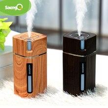 SaengQ – Humidificateur électrique d'air USB à ultrasons avec lumière LED,diffuseur d'huile aromatique essentiels de grain de bois, mini vaporisateur,