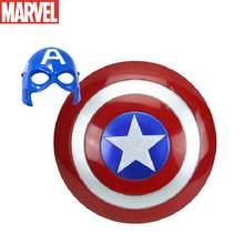 Os vingadores capitão américa escudo thor martelo figuras de ação super-herói spiderman cosplay máscaras lente prop máscara facial crianças brinquedos