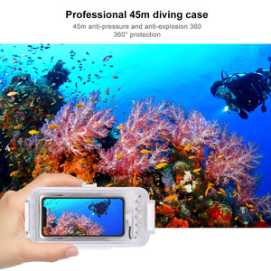 Image 4 - Cadiso 45m/147ft Waterproof Diving Housing Smartphone Dive Taking Underwater Cover Case for iPhone 11/X/8 Plus/8/7 Plus/7 iOS 13
