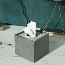 Cement Papieren Handdoek Siliconen Mal Beton Opbergdoos Schimmel Creatieve Hotel Woonkamer Pomp Doos Siliconen Mal