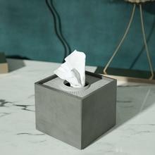 Cemento tovagliolo di carta stampo in silicone scatola di immagazzinaggio di cemento stampo creativo albergo soggiorno pompa scatola di stampo in silicone