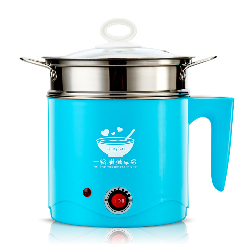 Sharp Collar Multi-functional Electric Cooker 304 Stainless Steel Students Dormitory Instant Noodles Pot Noodle Cooking Electric