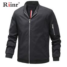 Riinr Mens Jackets Winter Autumn Casual Coats Solid Color Mens Sportswear Stand