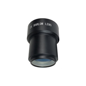 2inch 2X Barlow Lens for Astronomical Telescope Eyepiece Aluminium Alloy Frame+Optical Glass with Multi-layer Broadband Coating