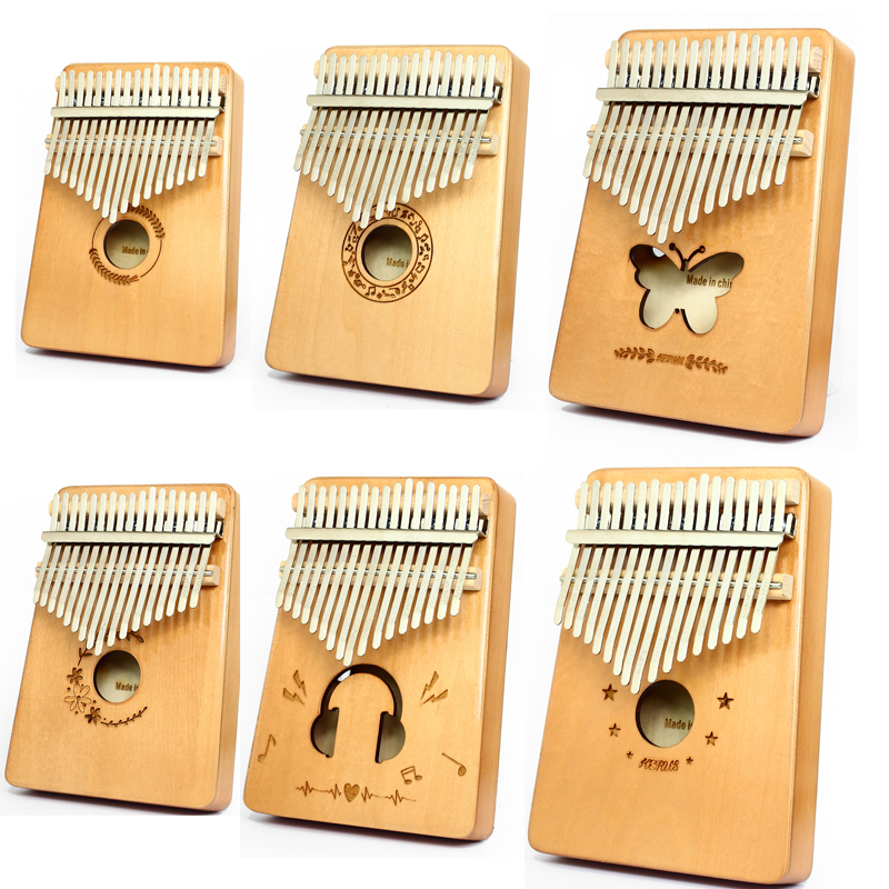 Kalimba Thumb Piano 17 Keys With Mahogany Wood Portable Piano Gifts For Kids And Piano Beginners Professional