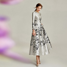 Dress Mother-Of-The-Bride-Dresses Jacquard Weddings Silver Custom-Made Plus-Size Elegant