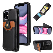 Leather Case for iPhone 6 6s 7 8 SE 2020 11 12 Mini Pro Max PLUS X XS XR Luxury Wallet Cards Coque Stand Funda Phone Bags Cover