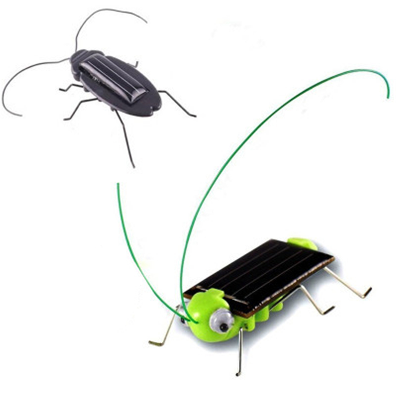 Solar Toys For Kids 1 Set Mini Powered Toy DIY Solar Powered Toy DIY Grasshopper Kit Children Educational Gadget Hobby Funny