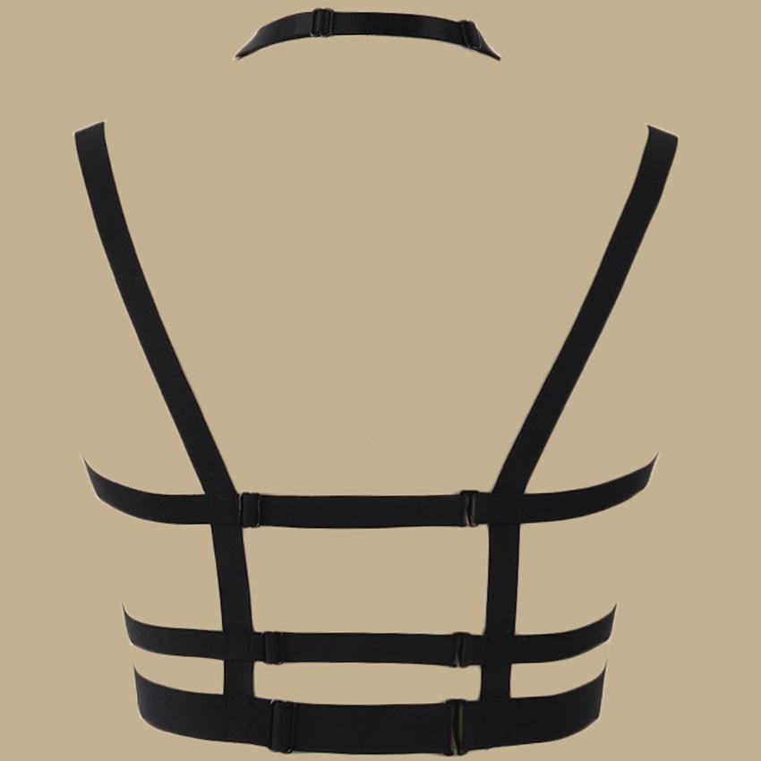 doubles bretelles Ceinture harnais pentagramme gothique accessoire ceinture