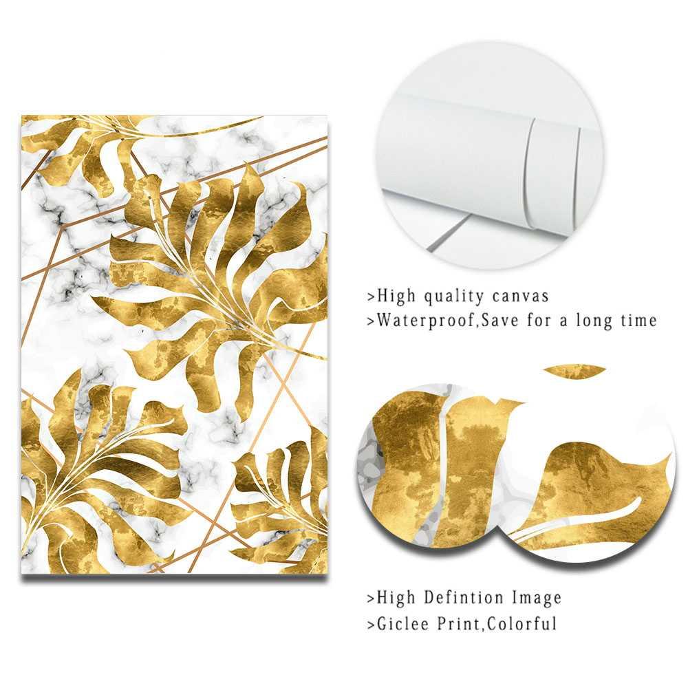 الشمال النباتات الذهبي ليف قماش اللوحة الملصقات و طباعة صور فنية للجدران لغرفة المعيشة غرفة نوم غرفة الطعام الحديثة ديكور
