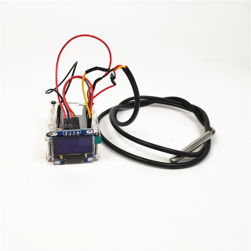 I4 Small Hammer IoT Liquid Thermometer With Display With Alarm Nodemcu IoT DS18b20