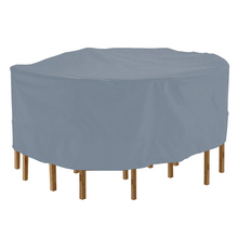 Round Furniture Table Cover Durable Waterproof PVC Coated Polyester Fabric Home Outdoor Dust Case Furniture Accessories cheap DUSTPROOFVEIL Modern Polyester Cotton All-Purpose Covers