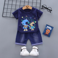 Newborn Infant Baby Boy Clothing Set Summer Clothes Suit for Baby Boy Cotton Cartoon T-shirt +Shorts 2pcs/set Kids Clothing Set anlencool free shipping attitude baby boy valley korean version of the leisure suit baby boy clothing set spring baby clothing