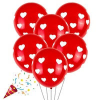 New 100pcs Balloon White Red Love round heart wedding balloons Birthday party latex ballute wedding Decoration Valentine's Day