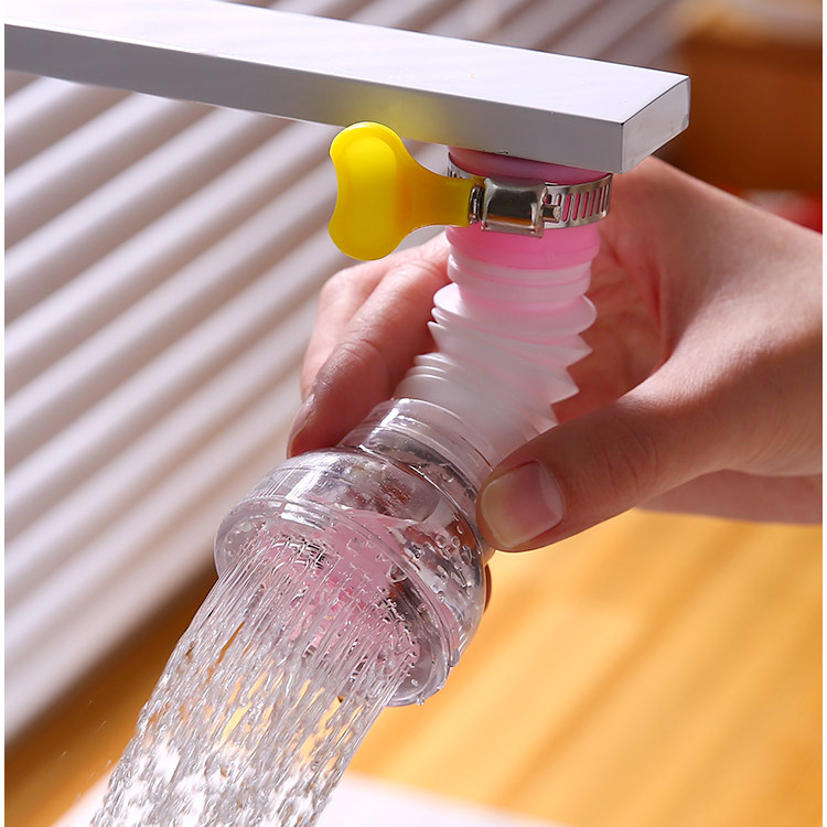 Faucet Rotating Water Drainer Maifan Stone Filtering Shower Head Household Kitchen Anti-Spill Water Purifier