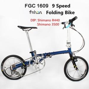 Image 1 - Fnhon FCG1609 מתקפל אופני 16 אינץ Minivelo CR MO פלדה V בלם 9 מהירות נוסע עירוני אופניים לshimano Shift רטרו פנאי BMX