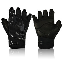 Savior Leather Weight Lifting Fitness Gloves Anti-slip Leather Wrist Support Gym Gloves for Men Women 2021