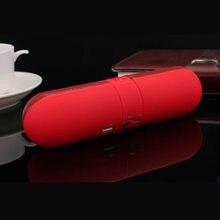 Bluetooth alto-falante sem fio portátil cardmulti-color opcional ao ar livre jogar música cápsula pílula forma chamada características alto-falante