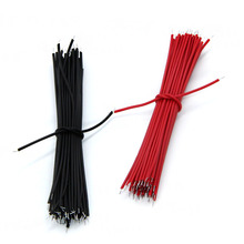 цена на 100pcs Breadboard Jumper Cable Wires Tinned 0.96cm Black & Red _wire