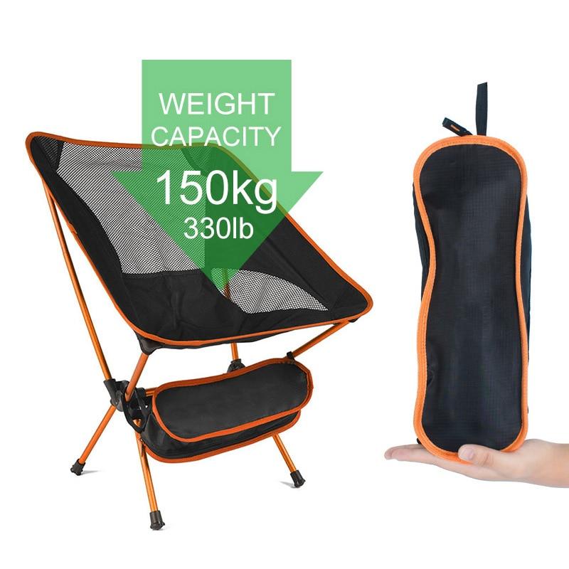Nešiojama kempingo paplūdimio kėdė, lengva sulankstoma žvejybos - Žvejyba